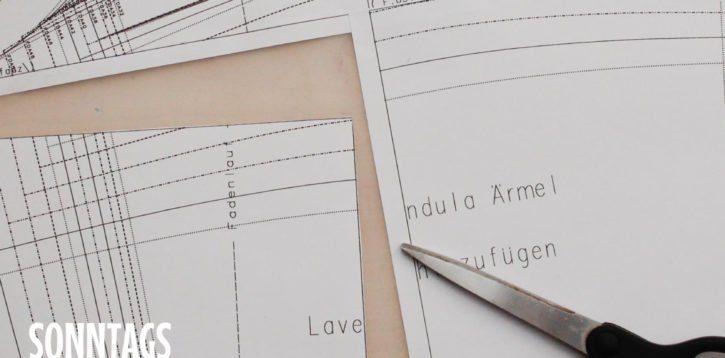 Sonntagsding: Papier- und Zeit sparen beim Schnittmuster-Kleben, -Schneiden und -Abpausen