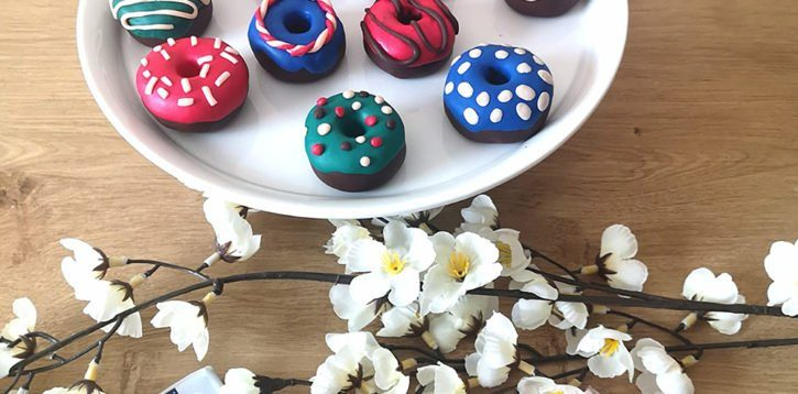 SonntagsDing: Nähgewichte-Donuts aus Fimo basteln