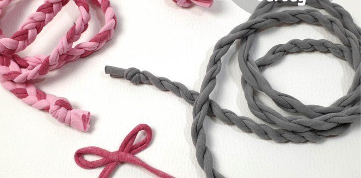 Sonntagsding: Kordeln, Bänder und Schleifen aus Jersey