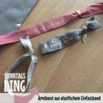 SonntagsDing: Armband aus elastischem Einfassband